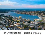 lake union and cascade district ... | Shutterstock . vector #1086144119