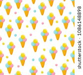 ice cream pattern | Shutterstock .eps vector #1086148898