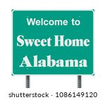 welcome to sweet home alabama... | Shutterstock .eps vector #1086149120