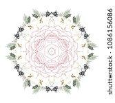 mandala design flower pattern. ... | Shutterstock .eps vector #1086156086