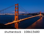 golden gate bridge by night in... | Shutterstock . vector #108615680