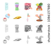jam  diet  accessories and... | Shutterstock .eps vector #1086157880