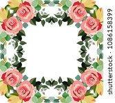 flowers frame vector... | Shutterstock .eps vector #1086158399