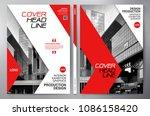 business brochure. flyer design.... | Shutterstock .eps vector #1086158420