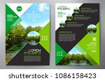 business brochure. flyer design.... | Shutterstock .eps vector #1086158423