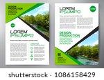 business brochure. flyer design.... | Shutterstock .eps vector #1086158429