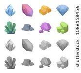 crystals  iron ore. precious... | Shutterstock .eps vector #1086158456