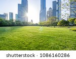 green lawn with modern office... | Shutterstock . vector #1086160286