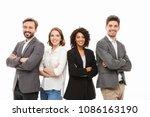 group of happy multiracial...   Shutterstock . vector #1086163190