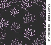 abstract floral seamless...   Shutterstock .eps vector #1086165908