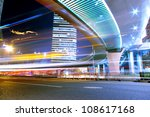 traffic through modern city at... | Shutterstock . vector #108617168