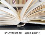 opened book close up - stock photo