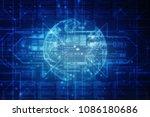 2d illustration technology... | Shutterstock . vector #1086180686