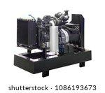 mobile  portable mobile diesel... | Shutterstock . vector #1086193673