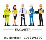 technician and builders and... | Shutterstock .eps vector #1086196970