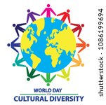 world day for cultural... | Shutterstock .eps vector #1086199694