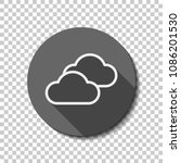 mostly cloudy icon. simple... | Shutterstock .eps vector #1086201530