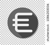 euro symbol  simple icon. white ...