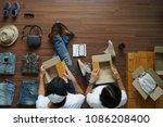 selling online ideas concept ... | Shutterstock . vector #1086208400