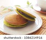 green tea dorayaki pancake   Shutterstock . vector #1086214916