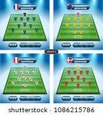soccer team player plan. group... | Shutterstock .eps vector #1086215786