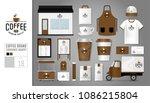 corporate identity template set ... | Shutterstock .eps vector #1086215804