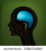 man in harmony withnature ... | Shutterstock .eps vector #1086216860