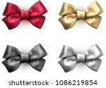 set of colorful realistic... | Shutterstock .eps vector #1086219854