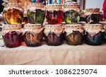 honey infused on various herbs... | Shutterstock . vector #1086225074