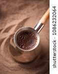 traditional turkish coffee in... | Shutterstock . vector #1086232064