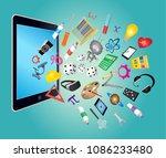 steam education icon | Shutterstock .eps vector #1086233480