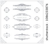 collection of vintage patterns. ... | Shutterstock .eps vector #1086233876