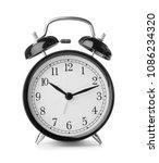 alarm clock on white background.... | Shutterstock . vector #1086234320