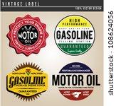 vintage gasoline | Shutterstock .eps vector #108624056