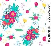 vector illustration. summer ... | Shutterstock .eps vector #1086242009