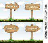 wooden arrow board | Shutterstock .eps vector #108624488
