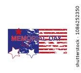 happy memorial day greeting... | Shutterstock .eps vector #1086252350