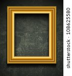 gold photo or picture frame... | Shutterstock .eps vector #108625580