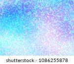 unicorn background with rainbow ... | Shutterstock .eps vector #1086255878