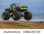 Airborne monster truck at the...