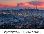a highly complex refinery... | Shutterstock . vector #1086257600