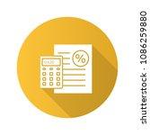 percentage calculator flat...   Shutterstock .eps vector #1086259880