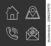 information center chalk icons... | Shutterstock .eps vector #1086259970