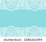 horizontally seamless mint lace ... | Shutterstock . vector #1086261494