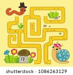 Maze Game For Kids  Worm Crawls ...