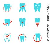 outpatient hospital icons set....   Shutterstock . vector #1086272393