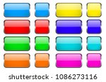 colored rectangle glass 3d... | Shutterstock .eps vector #1086273116