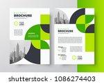 flyer brochure design template... | Shutterstock .eps vector #1086274403