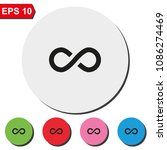 infinity sign flat round... | Shutterstock .eps vector #1086274469