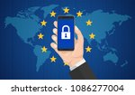 gdpr  general data protection... | Shutterstock .eps vector #1086277004